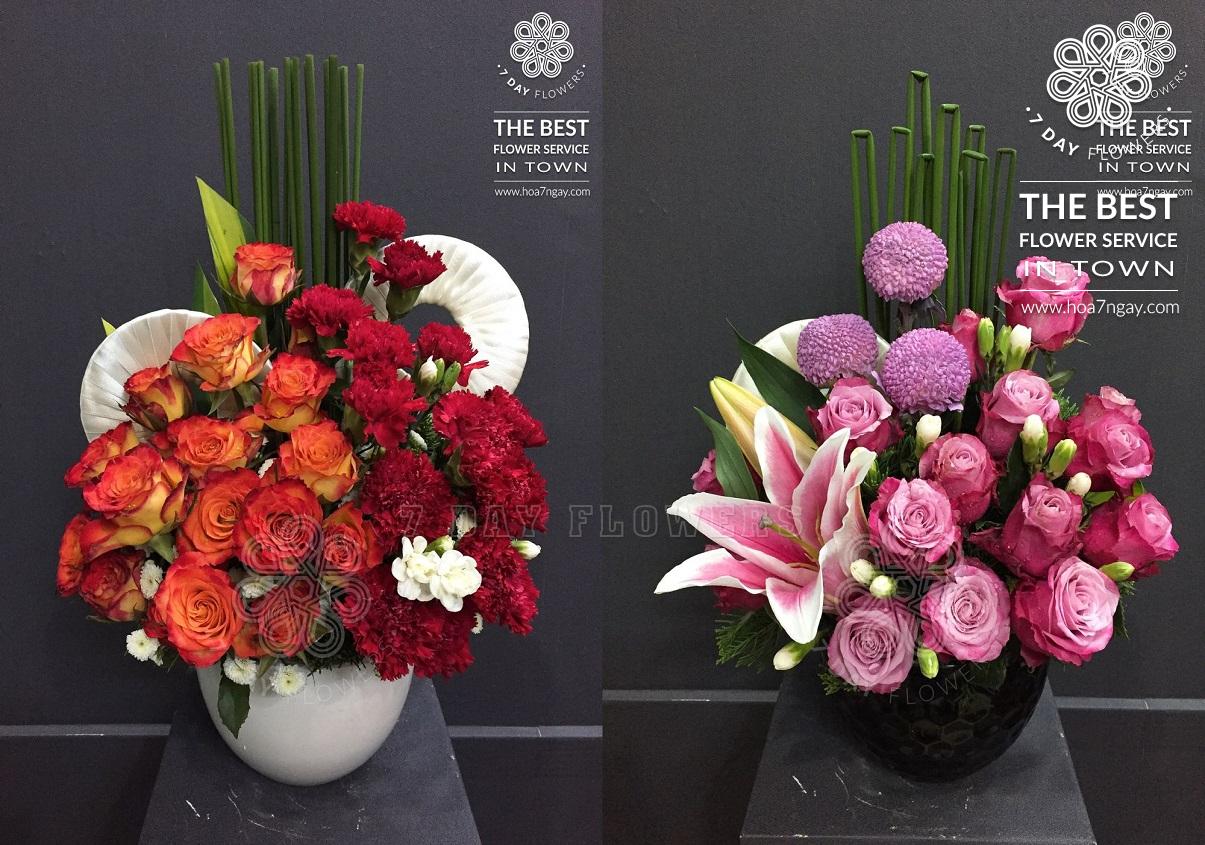 Làm sao để cắm hoa văn phòng đẹp  - Hoa Cưới Kim Anh